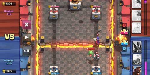 Combat de Clash Royale