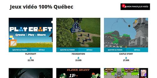 Catalogue du site