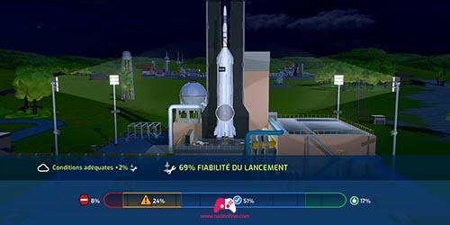 Lancement d'un satellite
