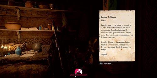 Lettre Sigurd