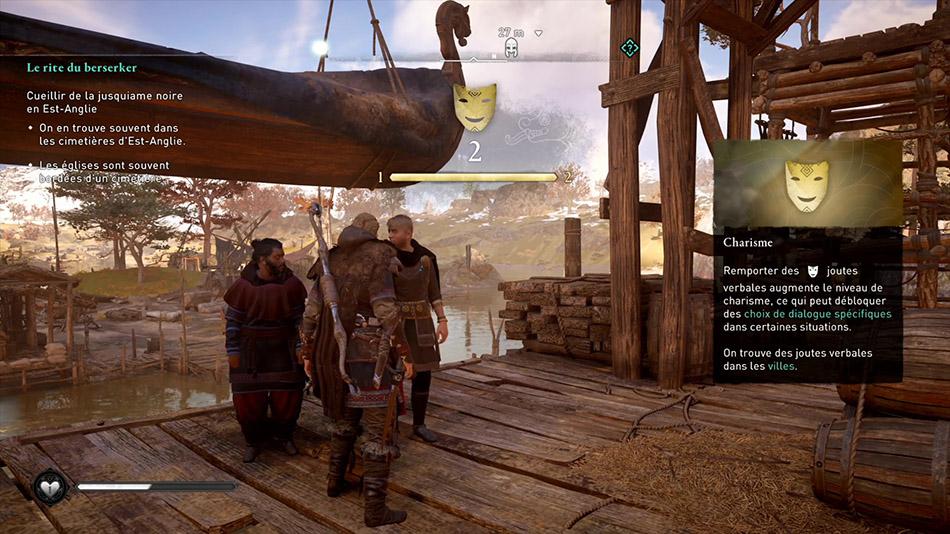 Emplacement des joutes verbales dans Assassin's Creed Valhalla