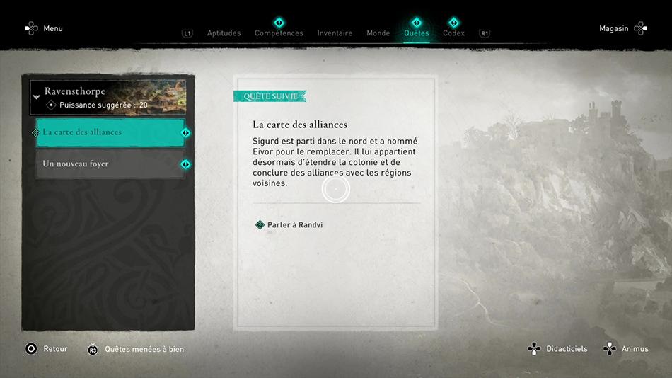 Soluce de la quête La carte des alliances de Assassin's Creed Valhalla