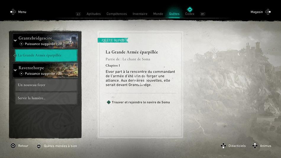 Soluce de la quête La Grande Armée éparpillée de Assassin's Creed Valhalla