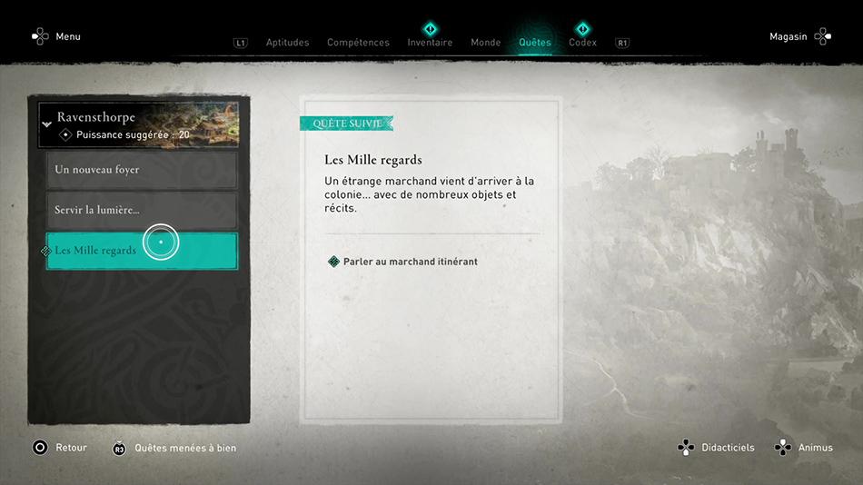 Soluce de la quête Les Mille regards de Assassin's Creed Valhalla