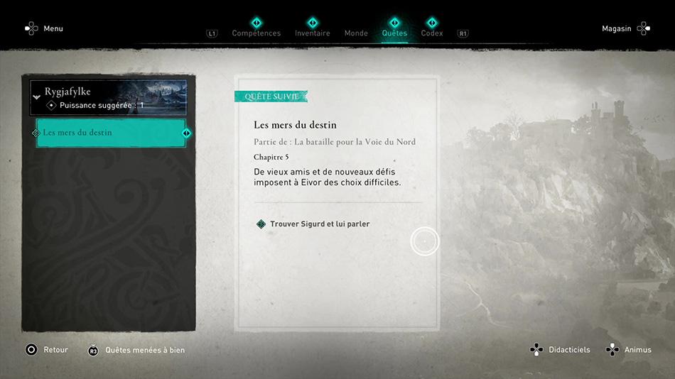 Soluce de la quête Les mers du destin de Assassin's Creed Valhalla
