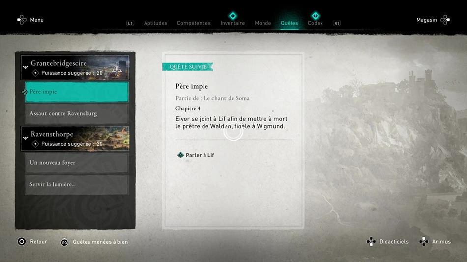 Soluce de la quête Père impie de Assassin's Creed Valhalla