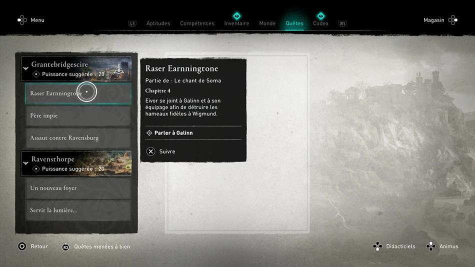Soluce de la quête Raser Earnningtone de Assassin's Creed Valhalla