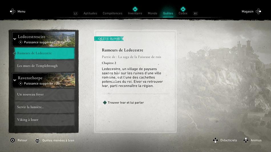Soluce de la quête Rumeurs de Ledecestre de Assassin's Creed Valhalla