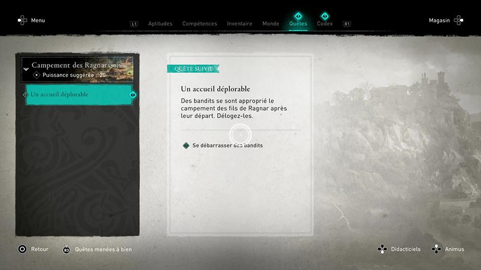 Soluce de la quête Un accueil déplorable de Assassin's Creed Valhalla