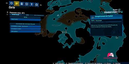 Carte du deuxième enregistrement Typhon