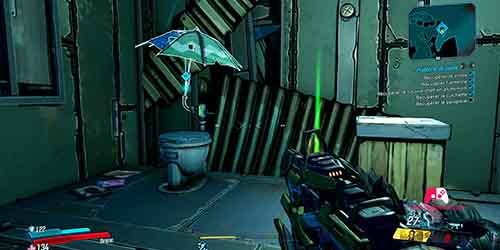Récupérer le parapluie