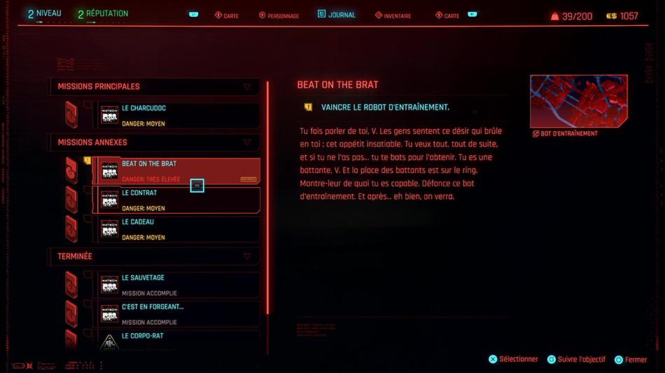 Soluce de la mission annexe Beat on the Brat de Cyberpunk 2077