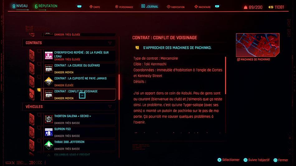 Soluce du contrat Conflit de voisinage de Cyberpunk 2077