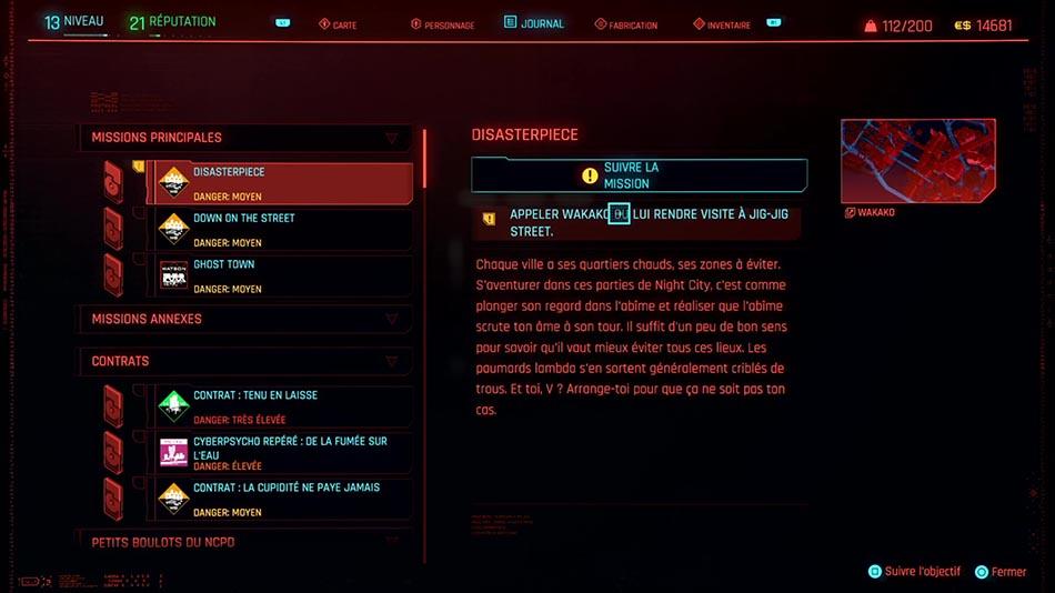 Soluce de la mission Disasterpiece de Cyberpunk 2077