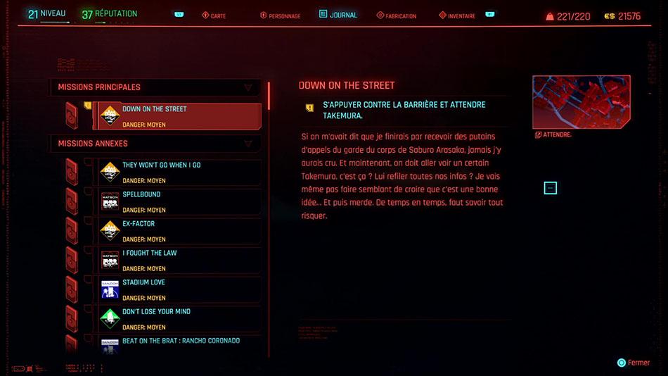 Soluce de la mission Down on the Street de Cyberpunk 2077