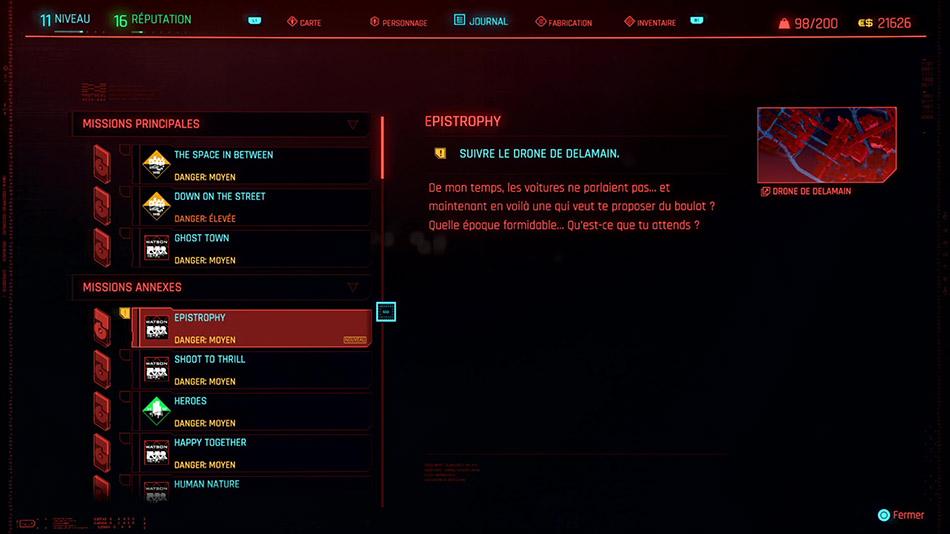 Soluce de la mission Epistrophy de Cyberpunk 2077