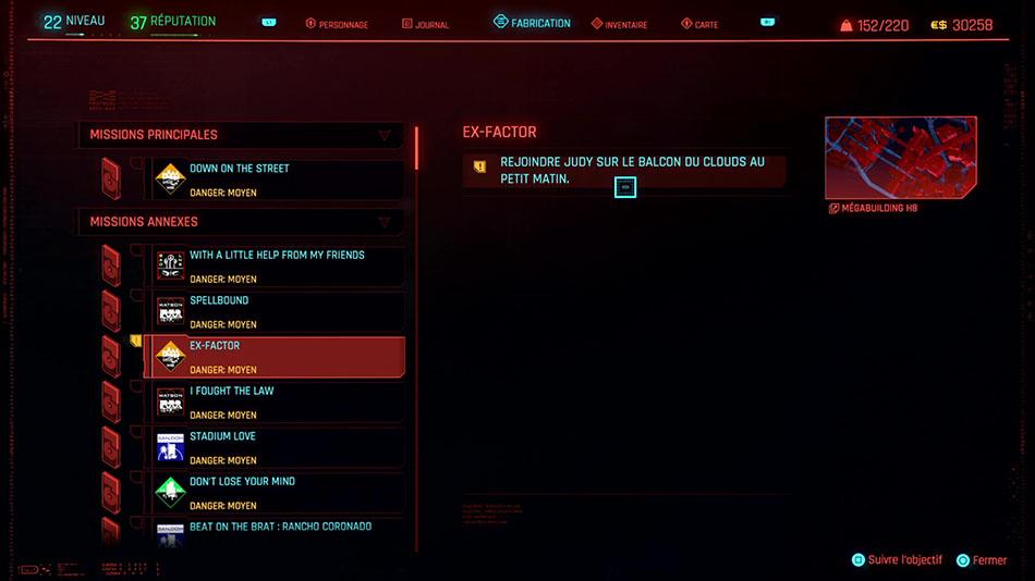Soluce de la mission Ex-factor de Cyberpunk 2077