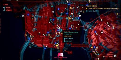 Carte du graffiti Le Fou