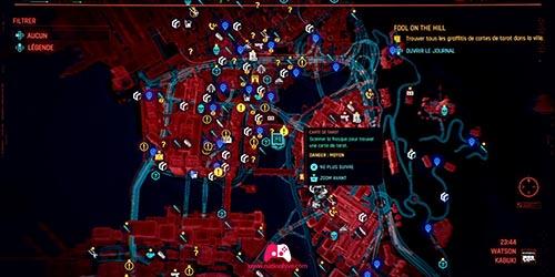 Carte du graffiti Le Pape