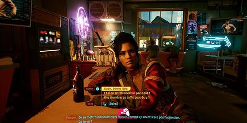 Parler avec Panam au Bar