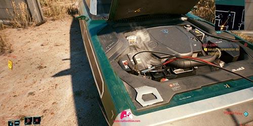 Cable sur la voiture