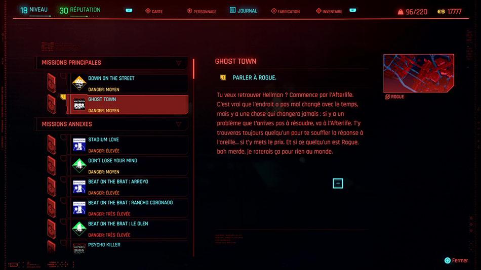 Soluce de la mission Ghost Town de Cyberpunk 2077