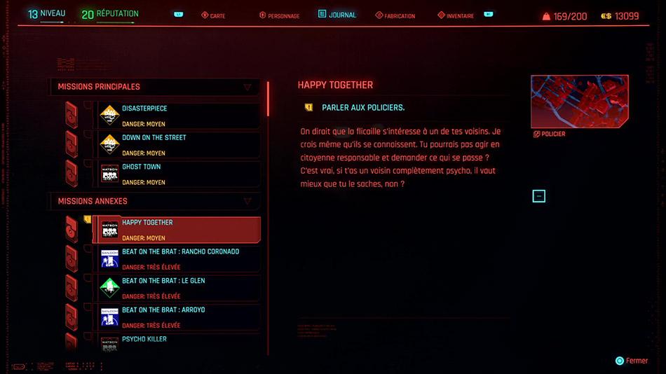 Soluce de la mission Happy Together de Cyberpunk 2077