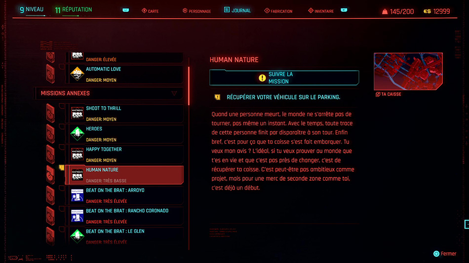 Soluce de la mission Human Nature de Cyberpunk 2077