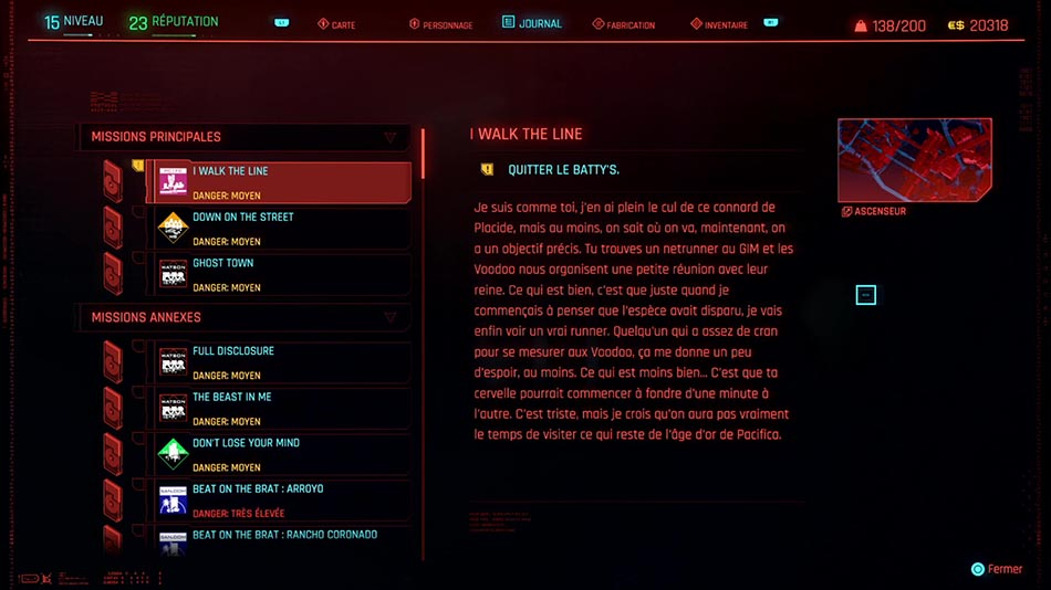 Soluce de la mission I Walk the Line de Cyberpunk 2077