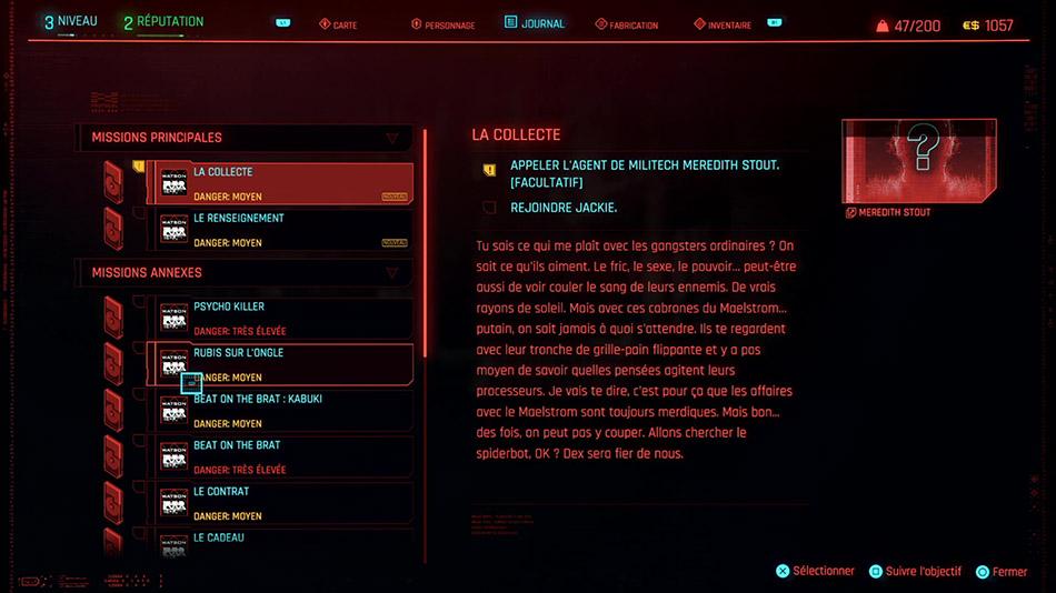 Soluce de la mission La collecte de Cyberpunk 2077