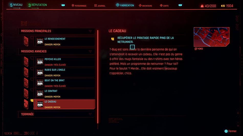 Soluce de la mission Le cadeau de Cyberpunk 2077