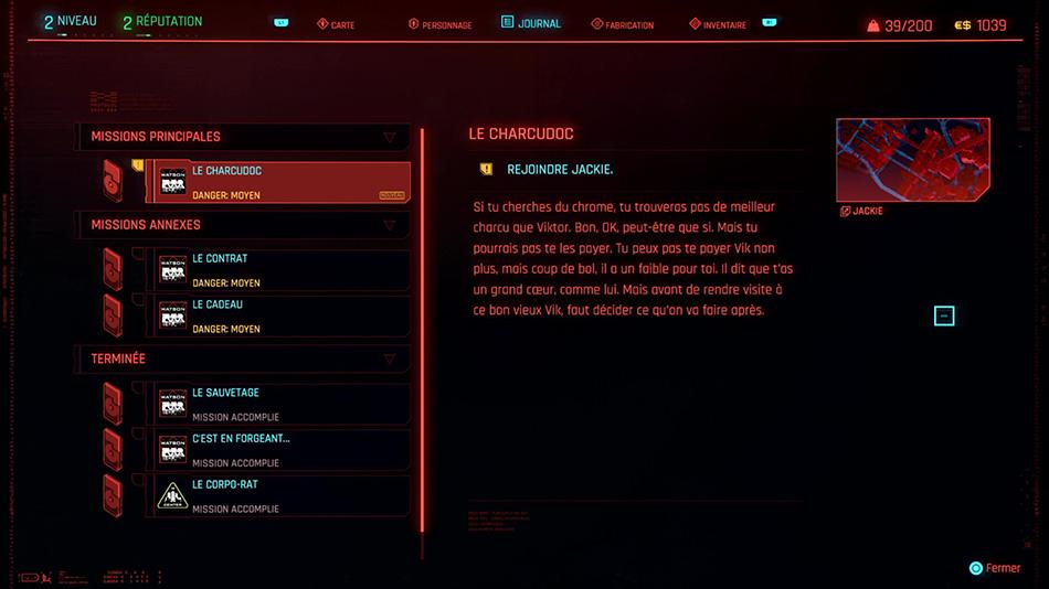 Soluce de la mission Le Charcudoc de Cyberpunk 2077