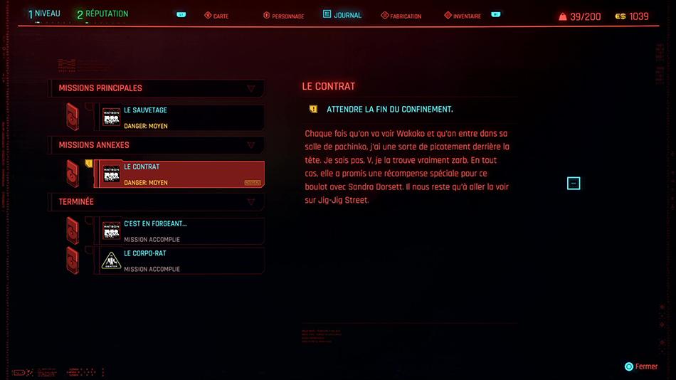 Soluce de la mission annexe Le contrat de Cyberpunk 2077