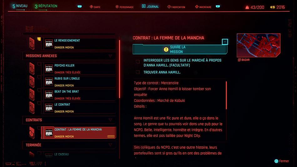 Soluce du contrat La femme de la Mancha de Cyberpunk 2077