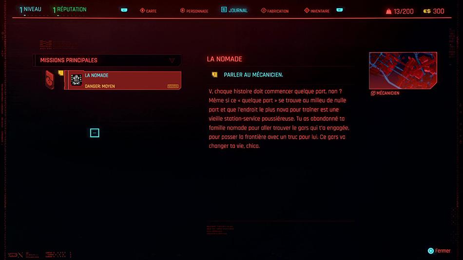 Soluce de la mission Le Nomade de Cyberpunk 2077