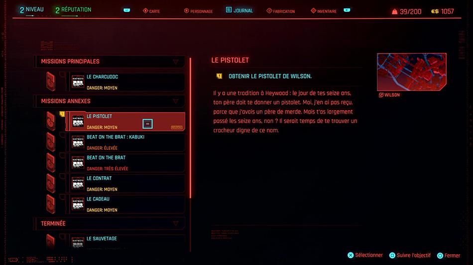 Soluce de la mission Le pistolet de Cyberpunk 2077