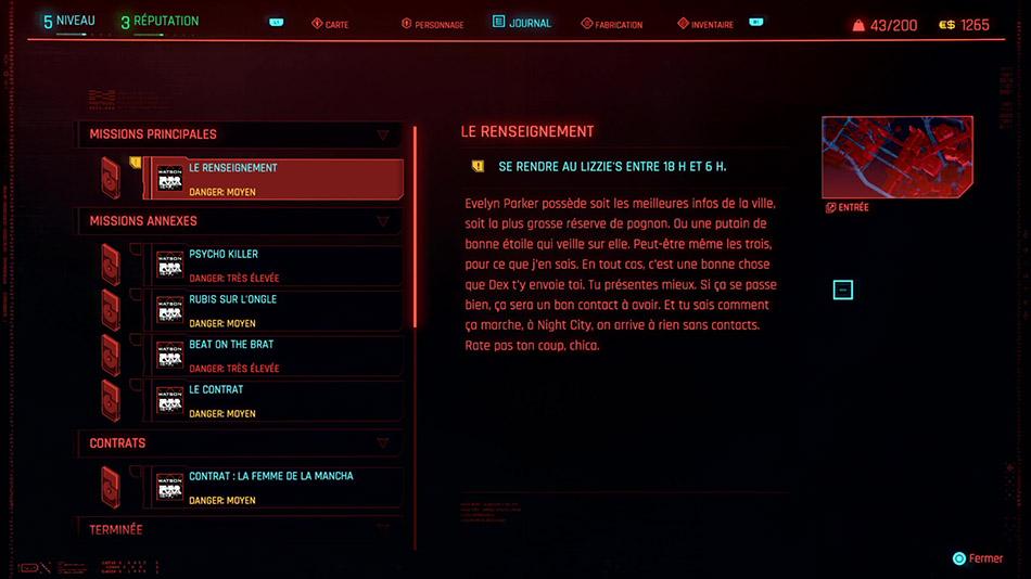 Soluce de la mission Le renseignement de Cyberpunk 2077