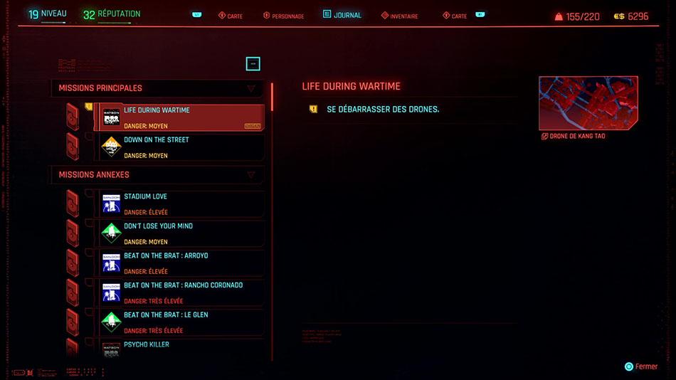 Soluce de la mission Life During Wartime de Cyberpunk 2077