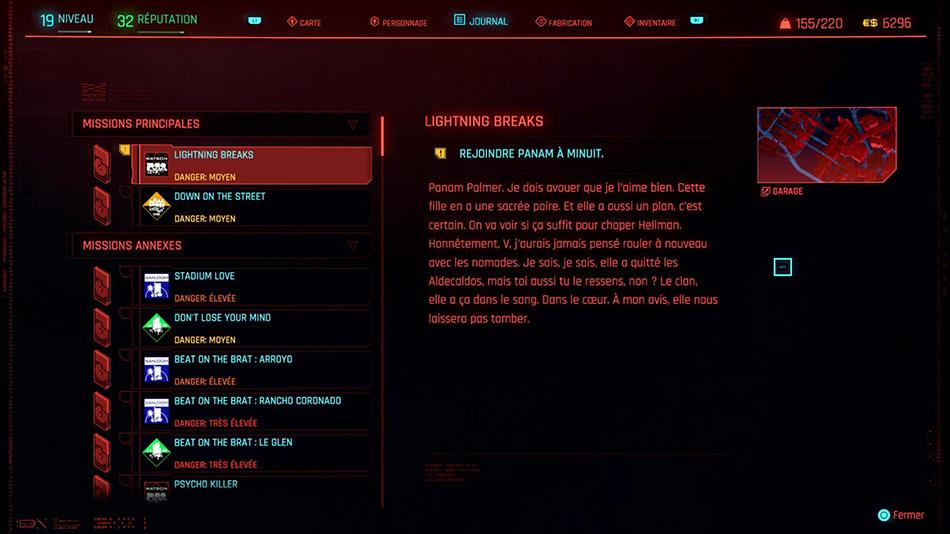 Soluce de la mission Lightning Breaks de Cyberpunk 2077