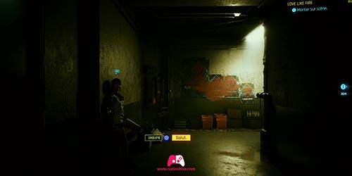 Avancez dans le couloir