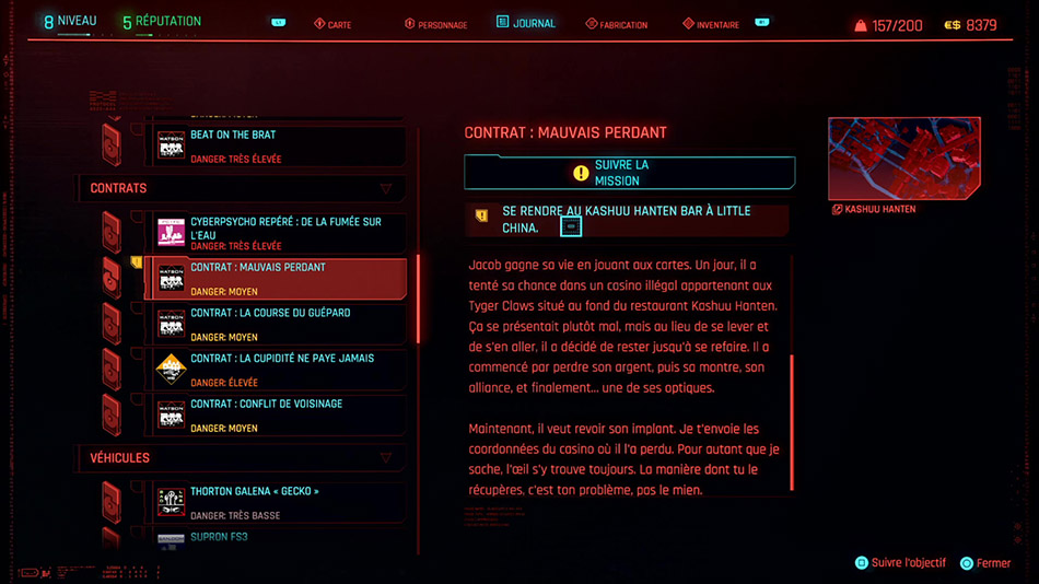 Soluce du contrat Mauvais perdant de Cyberpunk 2077