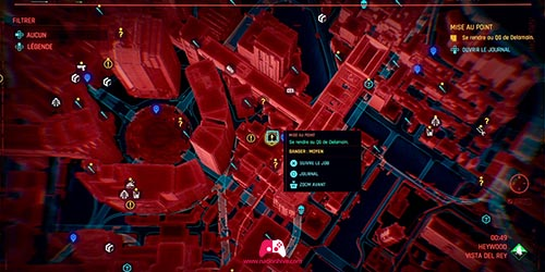 Carte du quartier général de Delamain