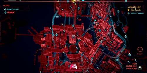Carte du City Center