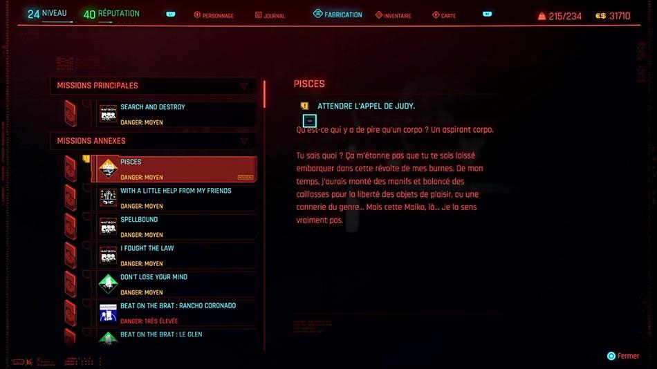 Soluce de la mission Pisces de Cyberpunk 2077