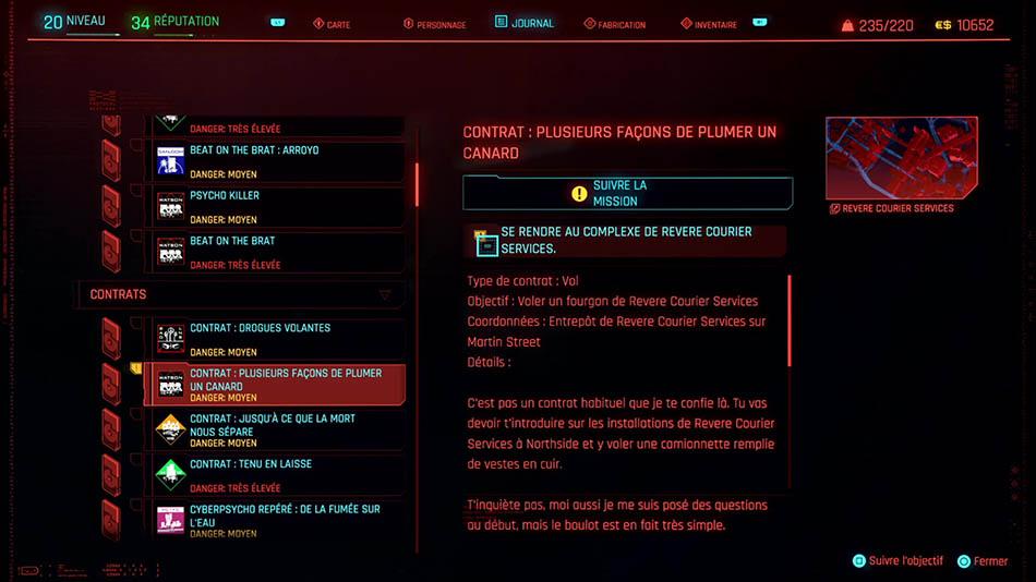 Soluce du contrat Plusieurs façons de plumer un canard de Cyberpunk 2077