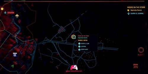 Carte de la mission Riders on the Storm