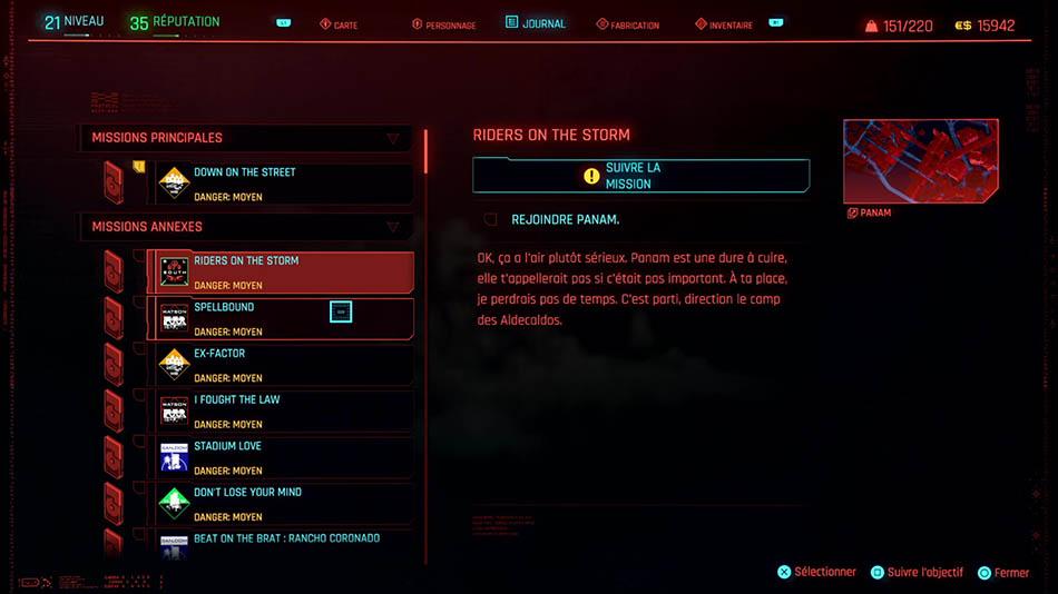 Soluce de la mission Riders on the Storm de Cyberpunk 2077