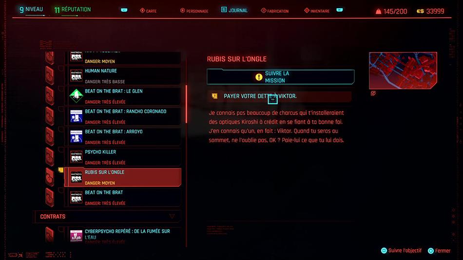 Soluce de la mission Rubis sur l'ongle de Cyberpunk 2077