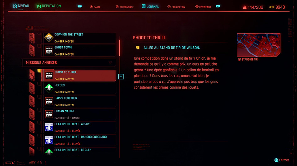 Soluce de la mission Shoot to Thrill de Cyberpunk 2077