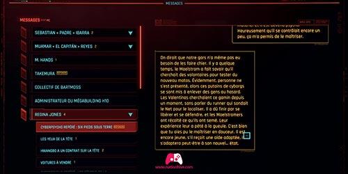 Envoyer un message à Régina